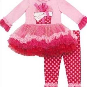 Rare Editions Girls Present Birthday Outfit